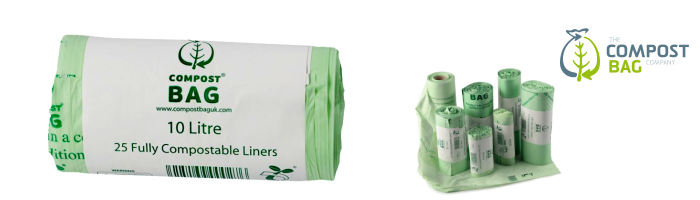 All-Green Biobag Compostable Kitchen Caddy Bin Liners Biodegradable 50 Bags 10L