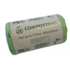 50 x 10 Litre Tie-Top CaddyMan Compostable Food Waste Caddy Bin Liner BioBags - EN13432 - 10L