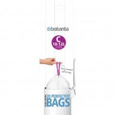 Size C x 120 Brabantia PerfectFit 10-12L Bin Liner Bags (6 x Rolls of 20 bags)