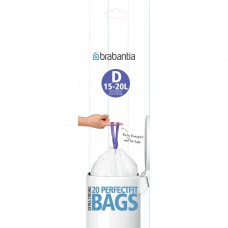 Size D x 120 Brabantia PerfectFit 15L Bin Liner Bags (6 x Rolls of 20 bags)