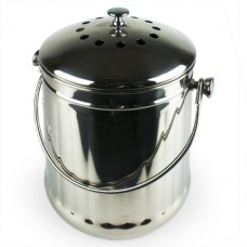 Eddingtons - Deluxe Compost Pail / Kitchen Caddy - Stainless Steel