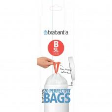 Size B x 240 Brabantia PerfectFit 5L Bin Liner Bags (12 x Rolls of 20 bags)