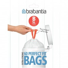 Size B x 180 Brabantia PerfectFit 5L Bin Liner Bags (3 x Dispenser Packs of 60 bags)