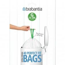 Size G x 80 Brabantia PerfectFit 23-30L Bin Liner Bags (2 x Dispenser Packs of 40 bags)