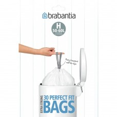 Size H x 60 Brabantia PerfectFit 50-60L Bin Liner Bags (2 x Dispenser Packs of 30 bags)