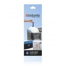 Size Q x 100 Brabantia PerfectFit 18L Bin Liner Bags (5 x Rolls of 20 bags)