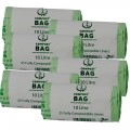 10 Litre x 150 BioBag Compostable Biodegradable Food Waste Caddy Bin Liner Bags (10L)