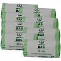 10 Litre x 200 BioBag Compostable Biodegradable Food Waste Caddy Bin Liner Bags (10L)