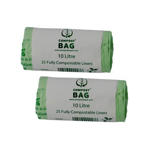 10 litre x 50 biobag compostable biodegradable food waste. Black Bedroom Furniture Sets. Home Design Ideas