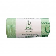 30 Litre x 25 BioBag Compostable Biodegradable Food Waste Bin Liner Bags (30L)