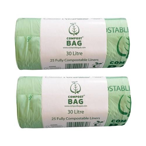 30 litre x 50 biobag compostable biodegradable food waste. Black Bedroom Furniture Sets. Home Design Ideas