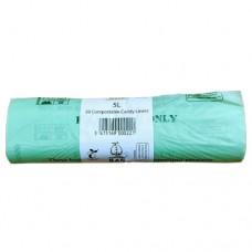 5 Litre x 50 BioBag Compostable Biodegradable Food Waste Caddy Bin Liner Bags (5L) EN13432