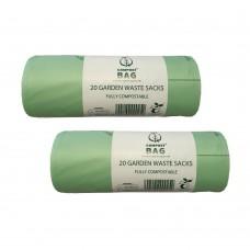 80 Litre x 40 BioBag Compostable Biodegradable Food / Garden Waste Wheelie Bin Liner Bags / Sacks (80L) EN13432