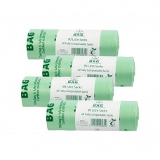 90 Litre x 80 BioBag Compostable Biodegradable Commercial Food Waste Sacks (90L) EN13432