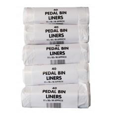 """200 x Pedal / guest room / kitchen bin liner bags 15L (18"""" x 18"""" / 45cm x 45cm)"""