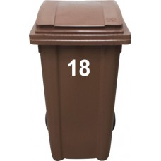 Vinyl Wheelie Bin Double Digit (10-99) House Number Sticker