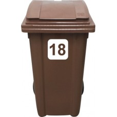 Vinyl Wheelie Bin Double Digit (10-99) House Number Sticker (Block Style)
