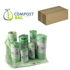 7 Litre x 1820 BioBag Compostable Biodegradable Food Waste Caddy Bin Liner Bags (7L) - Bulk / Trade / Wholesale
