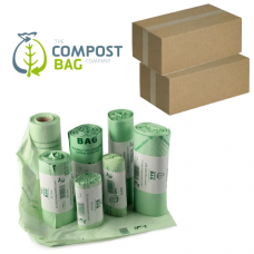 7 Litre x 3640 BioBag Compostable Biodegradable Food Waste Caddy Bin Liner Bags (7L) - Bulk / Trade / Wholesale