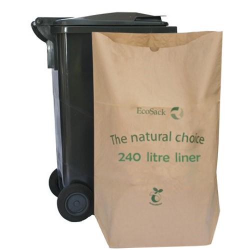 ecosack 240 litre x 10 compostable biodegradable paper. Black Bedroom Furniture Sets. Home Design Ideas