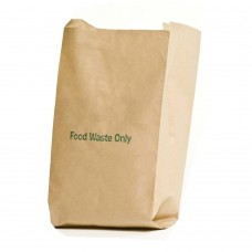 EcoSack 8 Litre x 75 Compostable Biodegradable  Paper Food Waste Caddy Bin Liner Bags (8L)