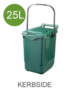 25 litre (25L) compostable caddy liners